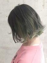 インナーカラー×ダブルグリーン