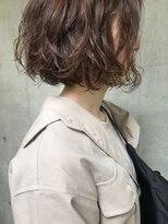 bibito 切りっぱなし美髪ソバージュ デジタルパーマフレンチボブ