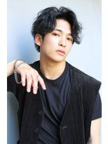 【ROSE鳳】コンマバング/黒髪マッシュ/ソフトツイストr