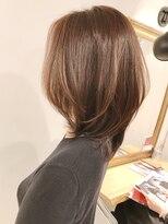 20代30代40代50代ラウンドCカーブカット+髪質改善シルク4Hカラー