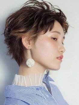 クーヘアードゥエ(COO hair doue)の写真/【3Dカラー】ハイライト、ローライトで外国人風な髪色が叶う♪人とは違うスタイルで差をつけてみませんか?