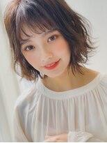 アグ ヘアー ドレス 喜久田店(Agu hair dress)《Agu》ネイビーブルー×こなれウェーブボブ シースルーバング