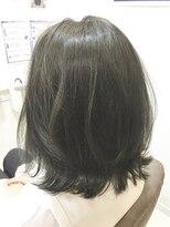ベイジヘアークチュール(BEIGE hair couture)ダークアッシュブラウン外ハネボブ