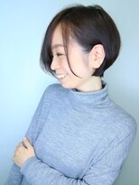 モリオ 池袋店(morio FROM LONDON)【morio池袋】大人かわいい可愛い前下がり透け感ショート♪