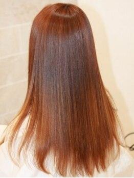 ツインズヘアー ベスティージ 柏駅南口店(TWINS Hair Vestige)の写真/【通算3万人以上の実績】ブローで髪を伸ばす【弱酸性ブロー矯正Air-Natural】自然すぎる仕上りに感動!
