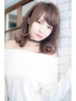 ロンド フィーユ(Lond fille)鎖骨ラインの外ハネフェミニンボブ☆