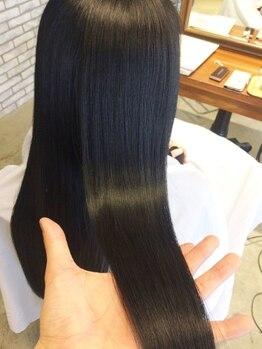 ジュード(JUDE)の写真/毛髪&ダメージ診断をもとに貴女に合った施術をご提案!ナチュラルなストレートで、セットの手軽さが人気☆