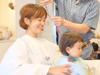 ミルコ バイ クラク(MIRUCO by KURAKU)の写真/プライベートサロンならではのアットホームさが心地良い♪親子同時で施術できるので安心してカットできる!