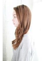 前髪イメチェンくびれイヤリングカラー美髪ラベンダーカラー/020