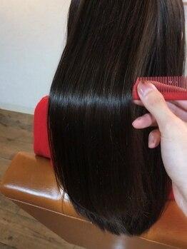 テッコ(tecco.)の写真/ダメージ毛でお悩みの方にとっておきの【tecco.】髪質改善を追求したstylistがあなたを美髪へと導く―。