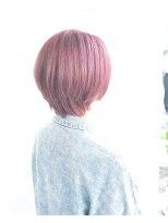 ヘアメイク オブジェ(hair make objet)ハイトーンピンク ショート KAI
