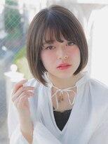 リリアン ギンザ(relian GINZA)【relian銀座竹澤優】モード3Dカラージグザグバングミニマムボブ