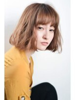 ボヌール 西梅田店(Bonheur)【女性stylist杉崎】ゆるウェーブのオトナボブ