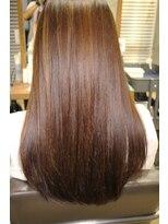 髪質改善トリートメント ナチュラルストレートロング