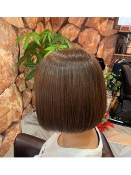 ソワ(SOIE)の写真/【くせ毛やうねりが気になる方必見】艶髪が叶う縮毛&自然な仕上がり♪