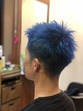ヘアースタジオ ミツル(hair studio 326)スーパーブルー