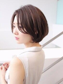エル(ELLE)の写真/【心斎橋】ELLEのショート&ボブ×柔らかニュアンスパーマなら簡単Stylingでこなれたお洒落なデザインに◇