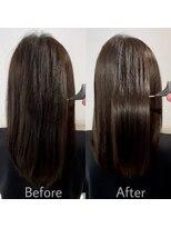 【お客様施術例】 カット+髪質改善(弱酸性)酸熱トリートメント