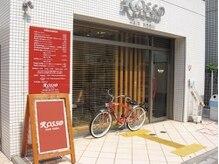 ロッソ 川口店(ROSSO)の雰囲気(お店の前の赤い看板、赤い自転車が目印です♪)