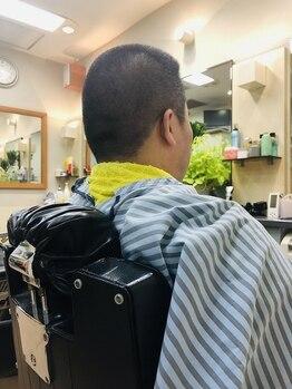 """理容アヅマの写真/[メンズカット¥3200]有名店で経験を積んだスタイリストだから出来る""""キメなくてもカッコイイ""""スタイル☆"""