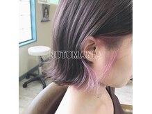 ノトマニア(NOTO MANIA)の雰囲気(ボブの内側にこっそり隠れた淡いピンクのインナーカラーがcute☆)