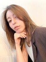 エイチスタンド 渋谷(H.STAND)[H.STAND 渋谷]大人かわいいミディアムストレート×グレージュ