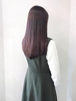 シエルブルー(ciel bleu)の写真/話題のTOKIOナノミストトリートメント♪繰り返すカラーでハリコシが軽減した髪も潤いのある美髪に☆