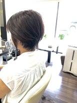 ヴィオレッタ ヘアアンドスペース(VIOLETTA hair&space)ショートカット×ブラウンカラー×シースルー[塚口美容室]