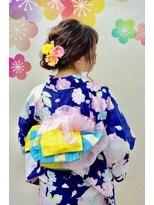 サロンド クラフト(salon de craft)【浴衣レンタル】ルーズなフルアップシニヨンアレンジ♪