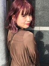 マーズ(Hair salon Mars)インナーピンクボブ