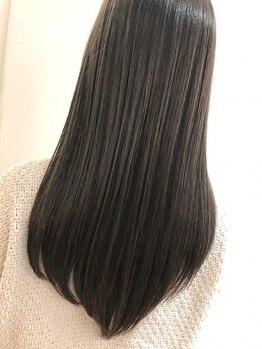 アンネル(An nelle)の写真/【栄★スグ】ヒアルロン酸配合の薬剤で自然なうる艶ストレートヘアに♪まっすぐ過ぎない自然な仕上がりに!