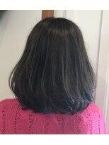 美容室 レア(lea)lea☆透明感カラー内巻きカールミディアムグラデーションボブ
