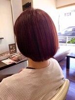 ヴィオレッタ ヘアアンドスペース(VIOLETTA hair&space)オレンジボブ