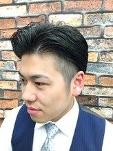 ヘアーサロン キンザマツナガ 築地店(Hair Salon GINZA MATUNAGA)スーツスタイルにキマる♪メリハリツーブロック<理容室>