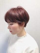 ヘアー アイス 御器所本店(HAIR ICI)yosuiの 柔らか ピンク ショート