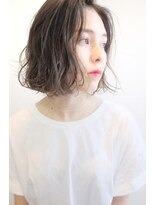 ヘアー ピープル(Hair People)切りっぱなしボブ×パーマ☆日比野