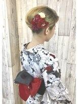 ヘアースペース ムーン(Hair Space MOON)ゆかたの着付けとヘアーセット、夏祭り、花火大会【要電話予約】