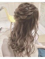 ルゥーダ ヘアアンドビューティー(Rouxda' hair&beauty)ゆるふわハーフアップスタイル