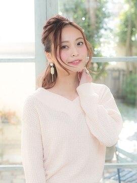 オーブ ヘアー ルル 京都四条通り店(AUBE HAIR lulu)大人っぽいフェミニン♪ハーフアップアレンジ