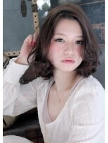 ロジッタ ROJITHA大人かわいい◎パーマでゆるふわボブスタイル(0364273460)