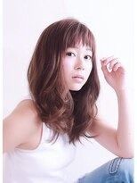ブラン(Blanc)【Blanc hair】アッシュブルー ゆるカール×ナチュラル