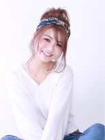 ブラン(Blanc)【Blanc hair】ターバンアレンジ カジュアルお団子