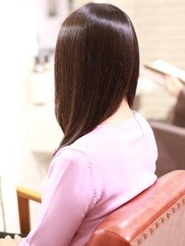 コルテ プレミオ(CoRte.premio)の写真/お手入れが楽でずっと触っていたくなる自然なストレートを実現!内側からのキレイな艶美髪に。
