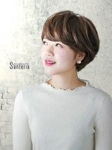 サンテリア(Santeria)【Santeria】シンプルなショートにナチュラルハイライトをプラス
