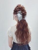アリス ヘア デザイン(Alice Hair Design)Alice☆ふわふわチュールのハーフダウンアレンジ
