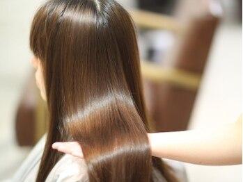 コルテ プレミオ(CoRte.premio)の写真/【すべてのメニューが髪質改善ヘアエステ】パーマやカラーを繰り返すほど、髪がキレイに扱いやすくなります