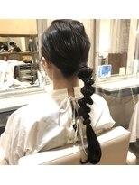 ヘアーエスクール 本店(hair S.COEUR)[ ゴムだけでできる、簡単ぽこぽこアレンジ ]