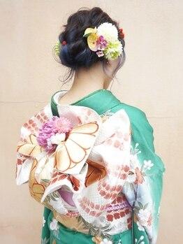 デフィ(defi)の写真/【南区】和装にもドレスにも合わせる!大切な日の着付け・ヘアセットは経験豊富な女性Stylistにお任せ☆