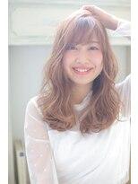 ジーナシンジュク(Zina SHINJYUKU)☆Zina☆チュールバングでこなれセミロング☆