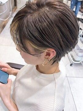 前髪 インナー カラー